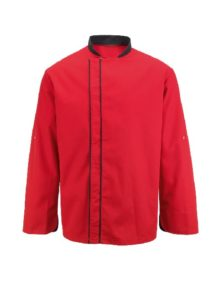 Alexandra chef's coloured contrast jacket