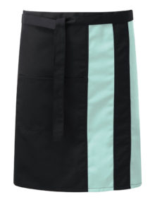Alexandra contrast waist apron with pocket