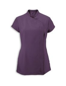 Alexandra women's Easycare wrap zip beauty tunic