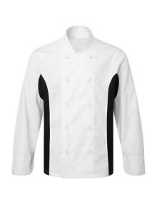 Alexandra contrast panel chef's jacket